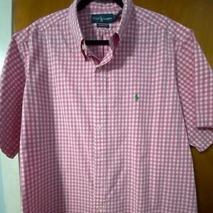 RALPH LAUREN BUTTON SHORT SLEEVE SHIRT